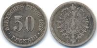 50 Pfennig 1877 C Kaiserreich kleiner Adler - Silber knapp sehr schön -... 22,00 EUR  zzgl. 3,00 EUR Versand