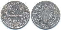 50 Pfennig 1877 G Kaiserreich kleiner Adler - Silber schön+ - gereinigt  29,00 EUR  zzgl. 3,00 EUR Versand