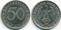 50 Reichspfennig 1938 A Drittes Reich Nickel prägefrisch/stempelglanz  70,00 EUR kostenloser Versand