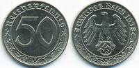 50 Reichspfennig 1938 F Drittes Reich Nickel prägefrisch/stempelglanz  75,00 EUR  zzgl. 3,80 EUR Versand
