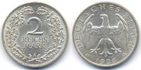 2 Reichsmark 1926 A Weimarer Republik Silber fast prägefrisch  35,00 EUR  zzgl. 3,80 EUR Versand