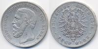 5 Mark 1876 G Baden Friedrich I. 1856-1907 fast sehr schön - winziger R... 55,00 EUR  zzgl. 3,80 EUR Versand