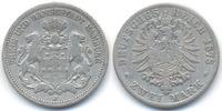 2 Mark 1878 J Hamburg Freie und Hansestadt schön+  49,00 EUR  zzgl. 3,80 EUR Versand