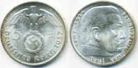 5 Reichsmark 1937 A Drittes Reich Hindenburg mit Hk prägefrisch  29,00 EUR  zzgl. 3,80 EUR Versand
