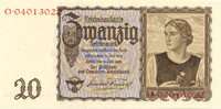 20 Reichsmark 1939 Deutsches Reich Reichsbank 1924-1945 Rosenberg Nr. 1... 25,00 EUR