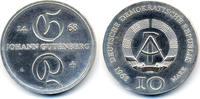 10 Mark 1968 DDR Johann Gutenberg - Silber prägefrisch - minimal fleckig  29,00 EUR