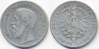 2 Mark 1876 G Baden Friedrich I. 1856-1907 schön  42,00 EUR  zzgl. 3,80 EUR Versand
