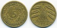 5 Rentenpfennig 1924 F Weimarer Republik Kupfer/Aluminium sehr schön+  1,00 EUR  zzgl. 1,20 EUR Versand