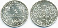 1/2 Mark 1908 D Kaiserreich Silber fast prägefrisch  59,00 EUR  zzgl. 3,80 EUR Versand