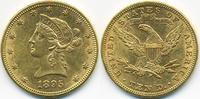 10 Dollars 1895 USA Liberty fast vorzüglich  750,00 EUR kostenloser Versand