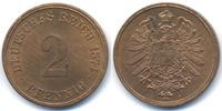 2 Pfennig 1874 H Kaiserreich kleiner Adler - Kupfer prägefrisch/stempel... 179,00 EUR kostenloser Versand
