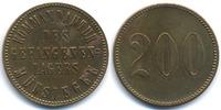 200 Pfennig ohne Jahr Württemberg - Münsingen Kommandantur des Gefangen... 22,00 EUR  zzgl. 3,80 EUR Versand