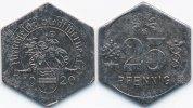 25 Pfennig 1920 Westfalen Werne - Eisen 1920 (Funck 596.6) sehr schön+ ... 72,00 EUR  zzgl. 3,80 EUR Versand