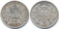 1/2 Mark 1913 J Kaiserreich Silber prägefrisch  32,00 EUR  zzgl. 3,00 EUR Versand