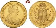 2 Souverain d'or 1773, IC-SK, Wien. RÖMISCH-DEUTSCHES REICH Maria There... 1695,00 EUR kostenloser Versand