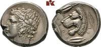 AR-Tetradrachme, um 430 v. Chr.; SICILIA LEONTINOI. Schrötlingsriß, Ave... 6850,00 EUR kostenloser Versand