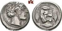 AR-Tetradrachme, 450/430 v. Chr.; SICILIA LEONTINOI. Sehr schön  1585,00 EUR kostenloser Versand