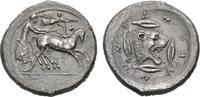 AR-Tetradrachme, 475/466 v. Chr.; SICILIA LEONTINOI. Feine Patina, etwa... 2485,00 EUR kostenloser Versand