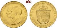 25 Franken 1956, Bern. LIECHTENSTEIN Franz Joseph II., 1938-1989. Vorzü... 245,00 EUR