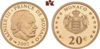 20 Euro 2002. MONACO Rainier III., 1949-2005. Polierte Platte.  515,00 EUR