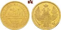 5 Rubel 1852, St. Petersburg. RUSSLAND Nikolaus I., 1825-1855. Kl. Rand... 675,00 EUR