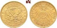20 Mark 1906. Bremen Freie Hansestadt. Vorzüglich +  2695,00 EUR
