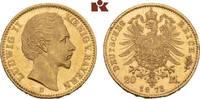20 Mark 1873. Bayern Ludwig II., 1864-1886. Winz. Randfehler, fast Stem... 725,00 EUR
