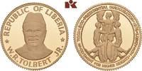 100 Dollars 1976. LIBERIA Republik. Polierte Platte  275,00 EUR  zzgl. 5,90 EUR Versand