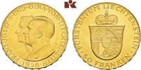 50 Franken 1956, Bern. LIECHTENSTEIN Franz Joseph II., 1938-1989. Vorzü... 495,00 EUR  zzgl. 5,90 EUR Versand