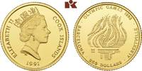 250 Dollars 1991. COOK ISLANDS Elizabeth II. seit 1952. Polierte Platte  325,00 EUR  zzgl. 5,90 EUR Versand