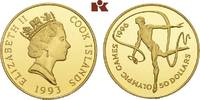 50 Dollars 1993. COOK ISLANDS Elizabeth II. seit 1952. Polierte Platte  190,00 EUR  zzgl. 5,90 EUR Versand