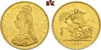 5 Pounds 1887, London. GROSSBRITANNIEN / IRLAND Victoria, 1837-1901. Se... 2445,00 EUR kostenloser Versand
