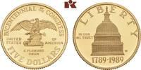 5 Dollars 1989 W, West Point. VEREINIGTE STAATEN VON AMERIKA / USA Föde... 305,00 EUR  zzgl. 5,90 EUR Versand