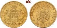 20 Mark 1878. Hamburg Freie und Hansestadt. Vorzüglich  395,00 EUR  zzgl. 5,90 EUR Versand