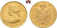 4 Escudos 1867, Madrid. SPANIEN Isabella II., 1833-1868. Fast vorzüglich  275,00 EUR  zzgl. 5,90 EUR Versand