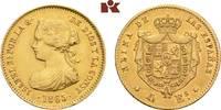 4 Escudos 1865, Madrid. SPANIEN Isabella II., 1833-1868. Min. Randfehle... 275,00 EUR  zzgl. 5,90 EUR Versand