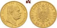 20 Mark 1887. Sachsen-Altenburg Ernst, 1853-1908. Fast vorzüglich  5375,00 EUR kostenloser Versand