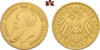 10 Mark 1898. Sachsen-Meiningen Georg II., 1866-1914. Sehr schön  3745,00 EUR kostenloser Versand