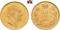 10 Dinara 1882 V, Wien. SERBIEN Milan IV. Obrenowitsch, 1868-1882-1889.... 235,00 EUR  zzgl. 5,90 EUR Versand