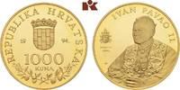 1.000 Kuna 1994. KROATIEN  Polierte Platte  315,00 EUR  zzgl. 5,90 EUR Versand