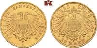 10 Mark 1901. Lübeck Freie und Hansestadt. Vorzüglich-Stempelglanz  2695,00 EUR kostenloser Versand