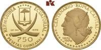750 Pesetas 1970. ÄQUATORIAL GUINEA Republik seit 1968. Polierte Platte  425,00 EUR  zzgl. 5,90 EUR Versand
