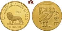 50 Francs 2003. KONGO Republik Kongo (Zaire), 1960-1971. Prachtexemplar... 345,00 EUR  zzgl. 5,90 EUR Versand