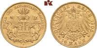 10 Mark 1905. Hamburg Freie und Hansestadt. Fast vorzüglich  275,00 EUR  zzgl. 5,90 EUR Versand
