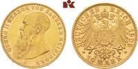 10 Mark 1909. Sachsen-Meiningen Georg II., 1866-1914. Vorzüglich-Stempe... 7245,00 EUR kostenloser Versand