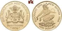 100 Dollars 1976. GUYANA  Polierte Platte  135,00 EUR  zzgl. 5,90 EUR Versand