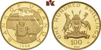 100 Shillings 1969. UGANDA Republik. Polierte Platte  545,00 EUR  zzgl. 5,90 EUR Versand
