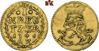 Goldabschlag zu einem 1/4 Dukaten von den Stempeln 1746, Darmstadt. HES... 745,00 EUR  zzgl. 5,90 EUR Versand