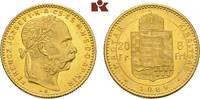 20 Franken (8 Forint) 1889 KB, Kremnitz. KAISERREICH ÖSTERREICH Franz J... 295,00 EUR  zzgl. 5,90 EUR Versand