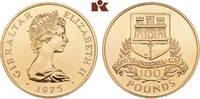 100 Pounds 1975. GIBRALTAR Elizabeth II. seit 1952. Min. Kratzer, vorzü... 1245,00 EUR kostenloser Versand